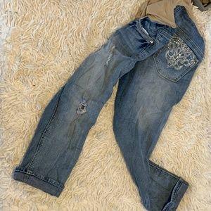 Wallflower Secret Fit Belly Maternity Crop Jeans